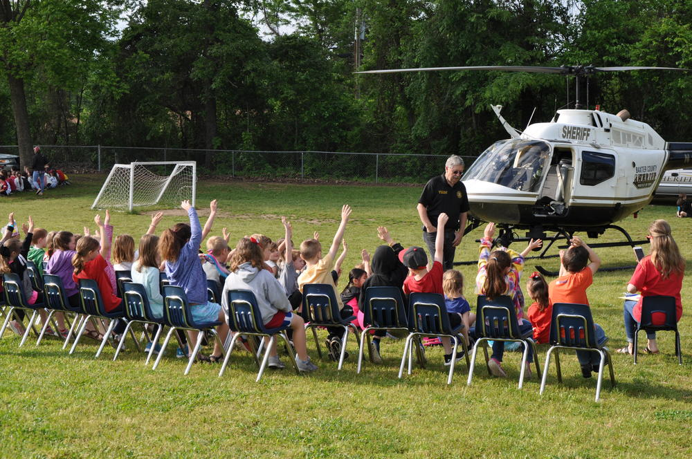 Deputy/Pilot Benny Magness talked about what to do if you are lost and the importance of the Helicopter in law enforcement.